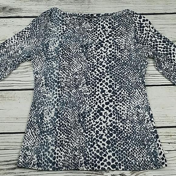bfeb5cd079fe73 Ann Taylor Tops - Ann Taylor Boat Neck 3 4 sleeve leopard print top